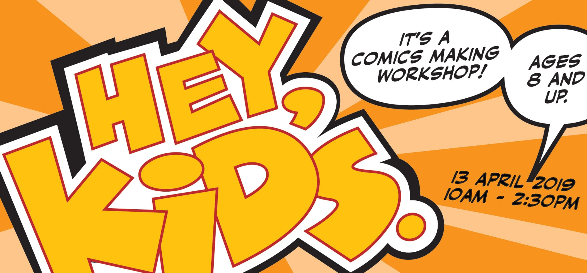 Comic Workshop for kids at Happy Mess Art